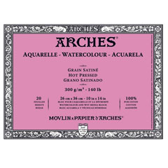 Блок ARCHES® Aquarelle Watercolour Hot Pressed - 26 x 36 см