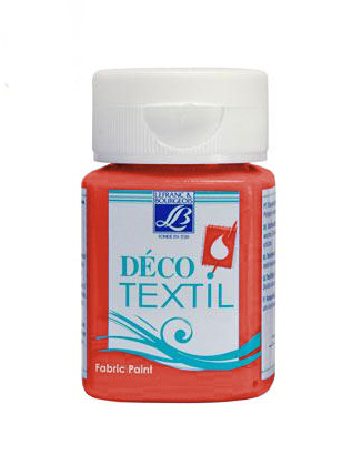 DECO Textil 50 ml INTENSIVE - intense red