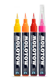 Маркери MOLOTOW™ GRAFX Aqua Ink Pump Softliner - Primary Yellow