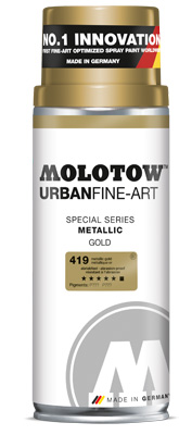 Graffiti спрей MOLOTOW™ UFA Metallic 400 ml - Silver