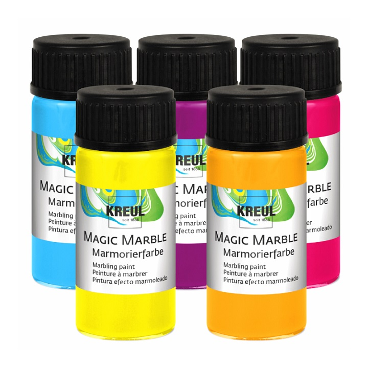 Бои с мраморен ефект HOBBY Line Magic Marble 20 ml - Metallic Yellow