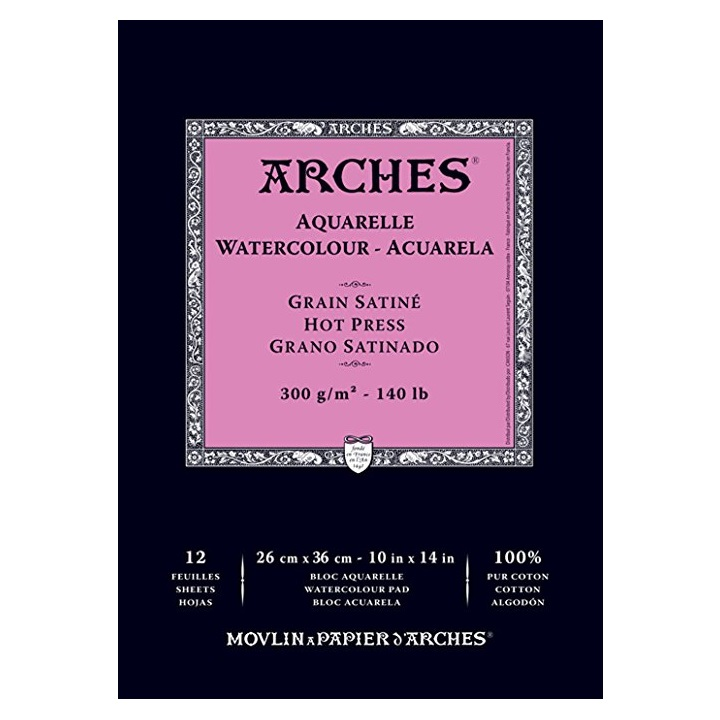 Хартиен блок ARCHES® Aquarelle Watercolour – 12 листа