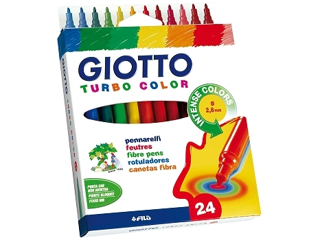 Флумастери GIOTTO TURBO COLOR - 24 цвята