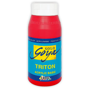 Акрилна боя Solo Goya TRITON 750 ml - Cherry Red