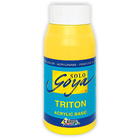 Акрилна боя Solo Goya TRITON 750 ml - Genuine Yellow Light