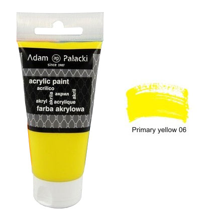 Акрилна боя Adam Palacki 75 ml - Primary Yellow