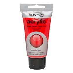 Акрилна боя REEVES Fine Artist 75 ml - Brilliant Red