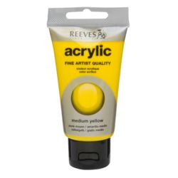 Акрилна боя REEVES Fine Artist 75 ml - Medium Yellow