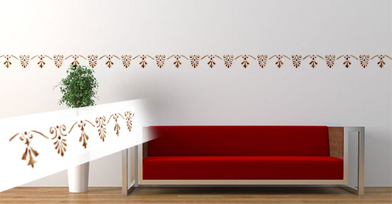 Шаблон Home Design Brico Motif - Lily Border
