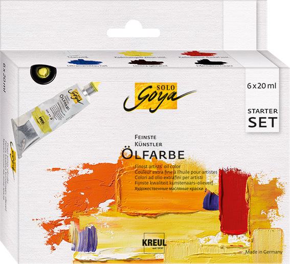 Маслени бои Finest Artists Solo Goya Starter Set 6x20 ml