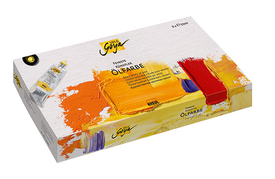 Маслени бои Finest Artists Solo Goya Set 8x55ml
