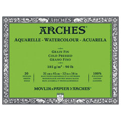 Блок ARCHES® Aquarelle Watercolour Cold Pressed - различна големина