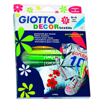 Флумастери за текстил GIOTTO DECOR textile - 12 цвята