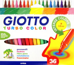 Флумастери GIOTTO TURBO COLOR - 36 цвята
