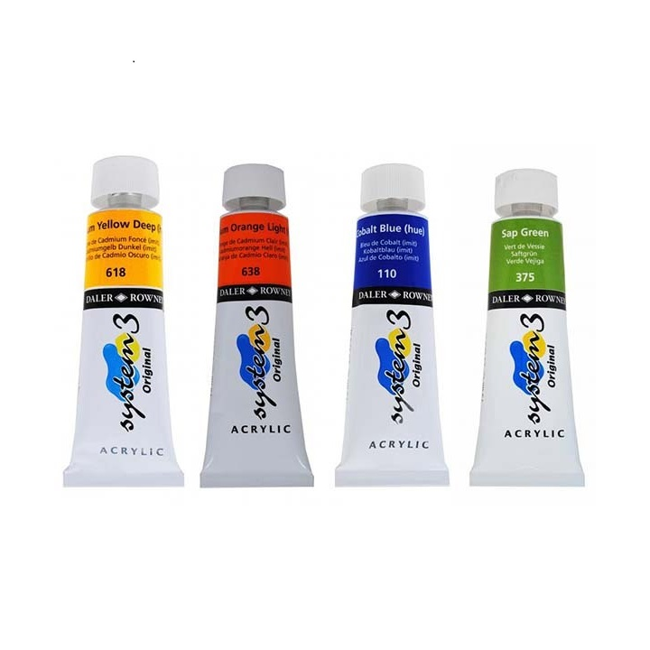 Акрилни бои Daler-Rowney SYSTEM 3 75 ml - 221 Burnt sienna
