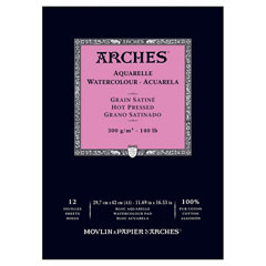 Блок ARCHES® Aquarelle Watercolour Hot Pressed - 29,7 x 42 см