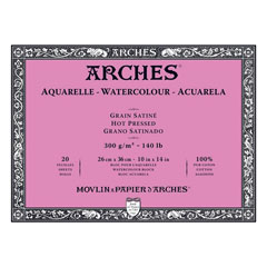 Блок ARCHES® Aquarelle Watercolour Hot Pressed - 36 x 51 см