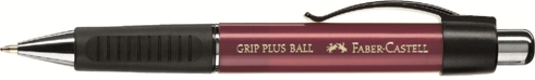 Химикалка с топче Grip Ball Plus, червена